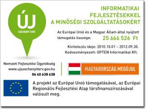 Széchenyi terv-informatikai fejlesztések